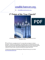 17 Points of the True Church