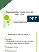 Análisis estadístico en estudios genéticos