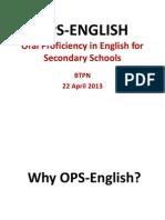 OPS ENGLISH Presentation