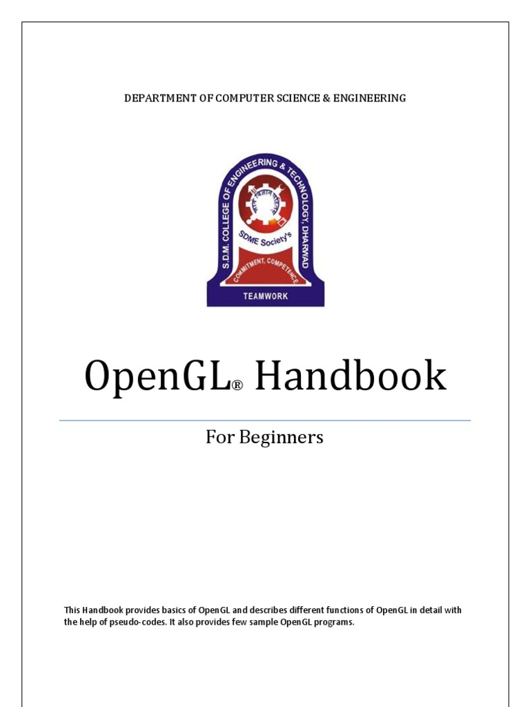 OpenGL Handbook | Subroutine | Parameter (Computer Programming)