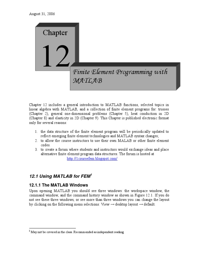 Finite Element Fortran Program Language - maplelost