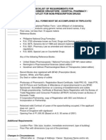 Checklist of Reqmt. for RDS - HP - RONPD