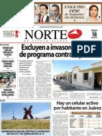 Periodico Norte de Ciudad Juárez 18 de Mayo de 2013