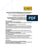 The Moderating Effect of IT Capability on the Relationship Between Business Process Reengineering Factors and Organizational Performance of Banks
