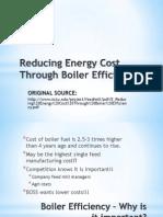 Reducing Energy Cost Through Boiler Efficiency