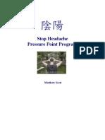 Stop Headache Pressure Point Program