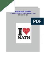 Rangkuman Materi Un Matematika Sma Program Ips