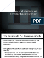 2. Entrepreneurial Intentions and Corporate Entrepreneurship