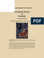 "A Selection of early Poems by Ian Irvine from ""Facing the Demon of Noontide"""