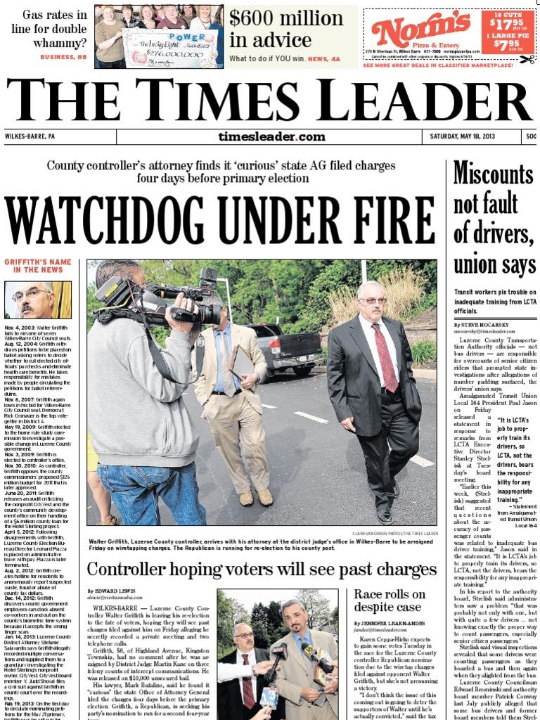 Times Leader 05-18-2013  c40db16a4