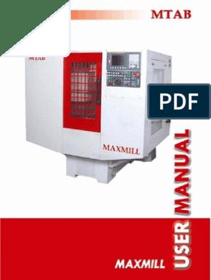 Maxmill - Fanuc Manual | Numerical Control | Cartesian Coordinate System