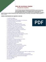 Análisis sintáctico de 50 oraciones simples