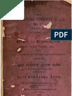 ASS 032 Aitareya Brahmanam With Sayanabhashya Part 2 - Kasinathsastri Agase 1896