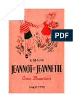 Langue Française Lecture Courante CE Jeannot et Jeannette K Seguin 1966