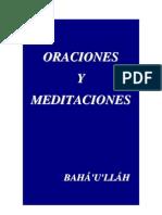Oraciones y Meditaciones