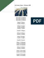 Zoom a Zonzo - Falconara - calendario 2009