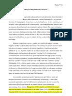 artifact -research essay individual teaching philosophy