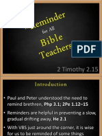 A Reminder for All Bible Teachers