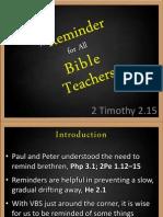 A Reminder for All Bible Teachers