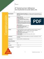 Adhesivo Elastico Poliuretano Sikabond Construction Adhesive