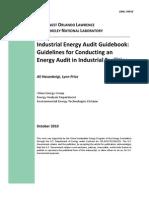 Industrial Energy Audit Guidebook.