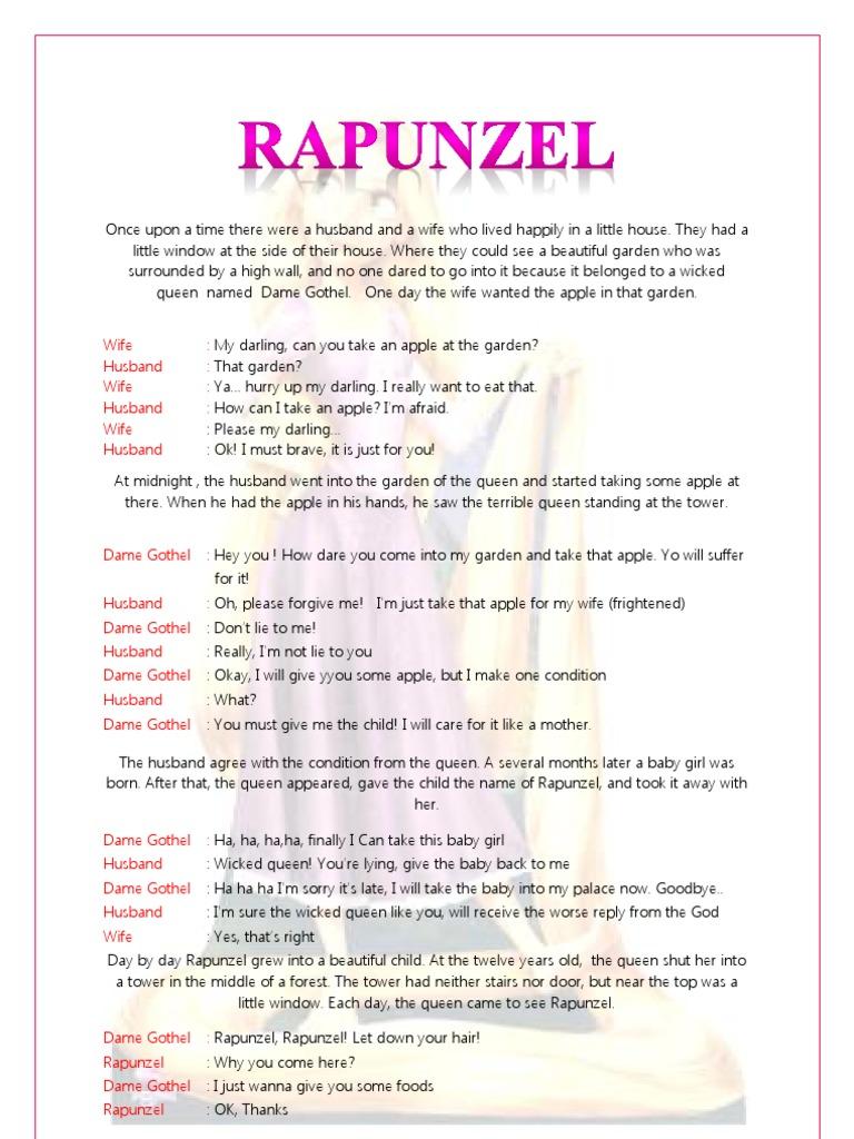 Drama Rapunzel English Rapunzel