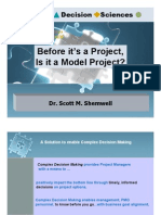 Before It's a Project, is It a Model Project?