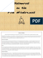 Resources on the Five Hindrances
