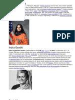 Kalpana Chawla - Indira Gandhi - Rami Laxmibai - Sania Mirza - 4 Photos + Information Lttle Bit = 3 Pages