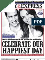 Daily Express Friday April 29 2011