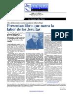Presentan libro que narra la labor de los Jesuitas en Laguna de los Padres