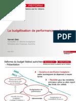 La budgétisation de performance en Autriche