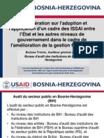 La coopération sur l'adoption et l'application d'un cadre des ISSAI entre l'État et les autres niveaux de gouvernement dans le cadre de l'amélioration de la gestion financière