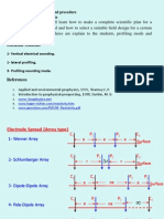 Lecture 13 Electrical Method Field Procedure