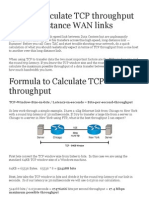 How to Calculate TCP_IP Throughput