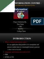 Student Information Centre Presentation