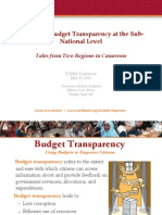 Increasing Budget Transparency at the Sub-National Level   Tales from Two Regions in Cameroon