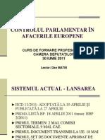 Prezentare Controlul Parlametar in Afacerile Europene