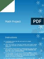 Calculus Project Overvi