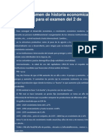 Microresumen de historia economica de españa para el examen del 2 de Junio