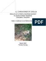 The Small Carnivores of Unguja