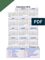 Calendario Oficial 2012