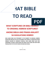 WHAT BIBLE TO READ