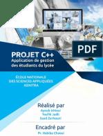 Rapport Projet c++ | gestion etudiant