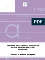 Aprender Padroes Lingua Escrita Modo Reflexivo Parte II Aluno