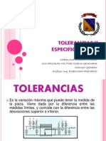 Tolerancias y Especificaciones