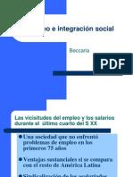 """Power Point """"Empleo e integración social"""" (Beccaria, Luis) 2001"""