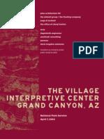 Grand Canyon Village Interpretive Center Concept Plan
