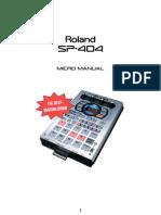 SP-404 Micro Manual Eng