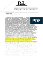 Ignacio Sotelo Sobre La Biografia de Weber